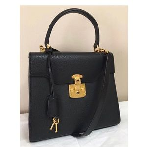 Authentic 90's GUCCI Pigskin Lady Lock 2-Way Bag